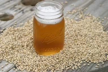 Mason Jar with Beer