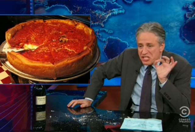 The 7 best burns from Jon Stewart\'s takedown of Chicago deep dish pizza