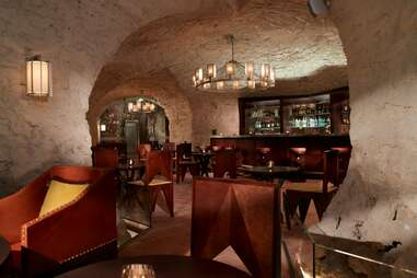 Augustine bar in cave