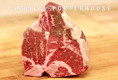 t-bone and porterhouse