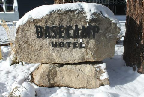 basecamp hotel rock sign