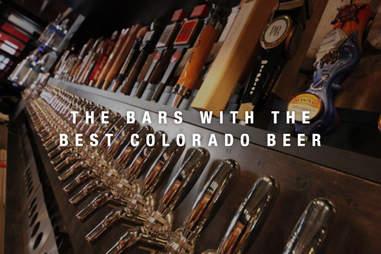 Colorado Plus Brewpub's taps