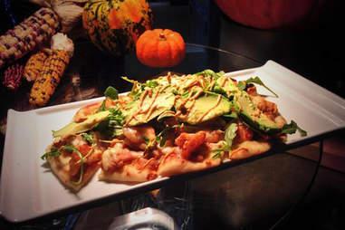 Orlando Magic blackened shrimp and avocado flatbread
