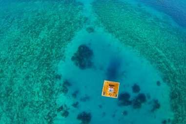 Manta resort underwater room from above