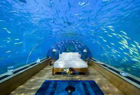 Ithaa Undersea restaurant transformed into bedroom