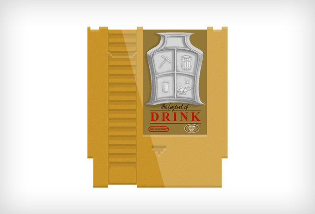 These Nintendo cartridge flasks will power you up with booze