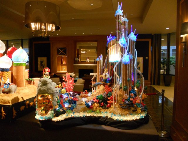 Sheraton Seattle Ariel's castle gingerbread house