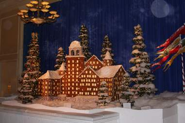Claremont Hotel gingerbread house