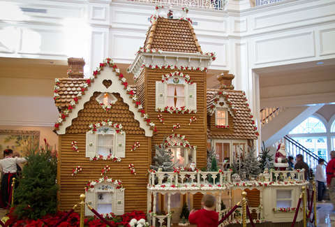 Disney World Grand Floridian Resort gingerbread house