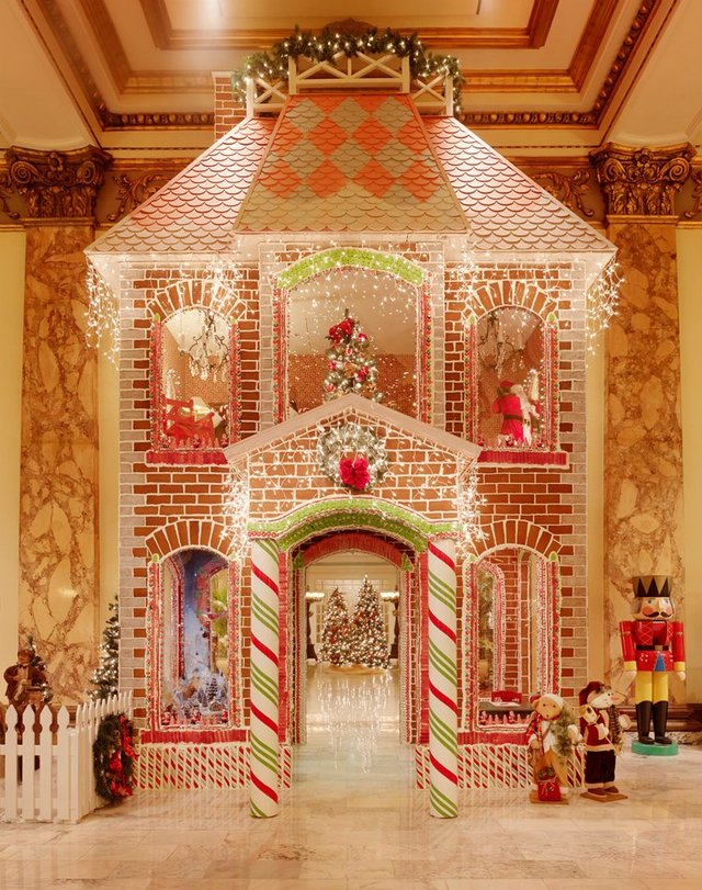 Fairmont Hotel & Resorts life-size gingerbread house