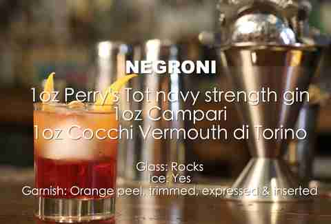 negroni ingredients list