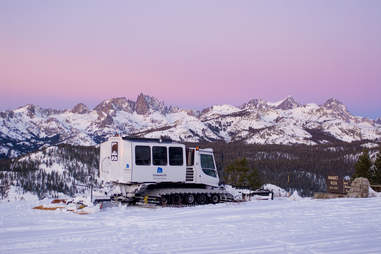 Snowcat to a romantic dinner at Mammoth