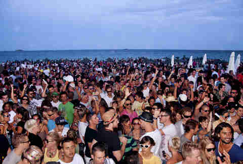 Ibiza party crowd