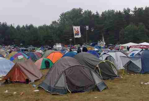 Polish woodstock tents