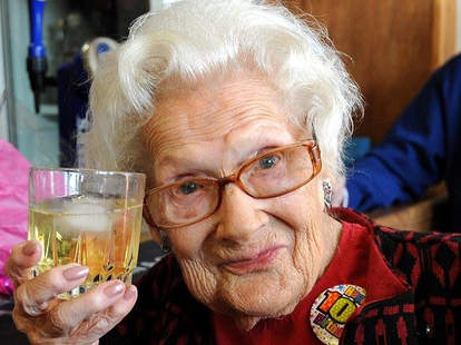 Dorothy Hower celebrates 100th birthday with whiskey