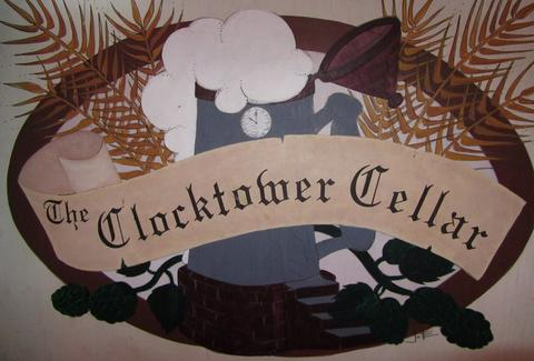 Clocktower cellar sign