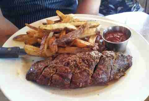 Yodler steak and fries