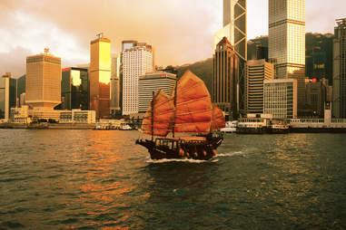 Hong Kong, boat
