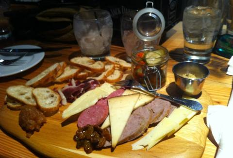 Spur meat and cheese plate