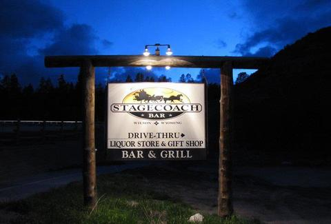 stagecoach bar sign