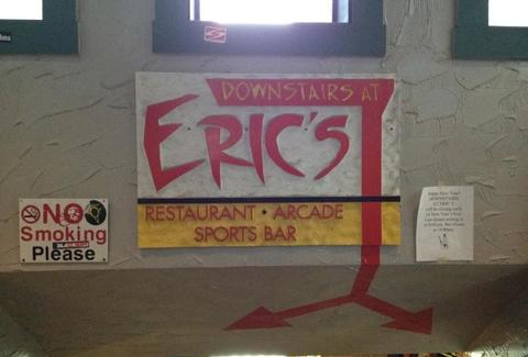 Downstairs at eric's sign
