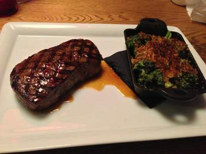 Steak and broccoli