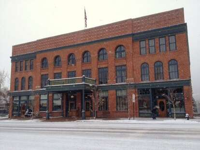 hotel jerome in the snow
