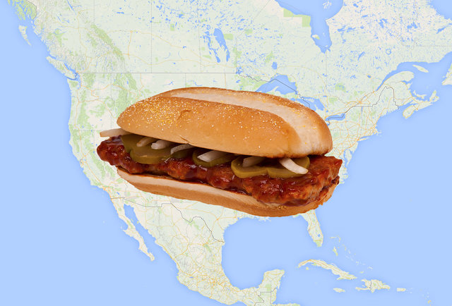 This trusty McRib locator will help you find your favorite scarce sandwich