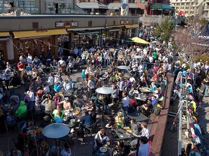 Crowded patio
