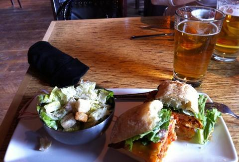 Beer and sandwiches