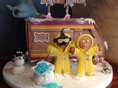 Breaking Bad gingerbread meth lab