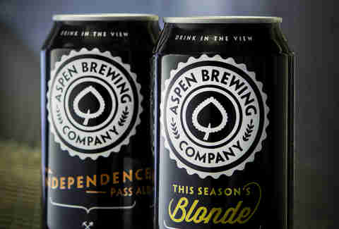 aspen brewing company beer cans