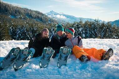 Snowshoeing -- Mike Crane, Tourism Whistler