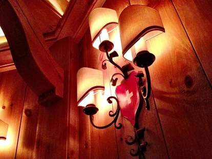 Swiss flag, lamp