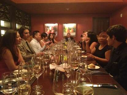 group dinner at flame