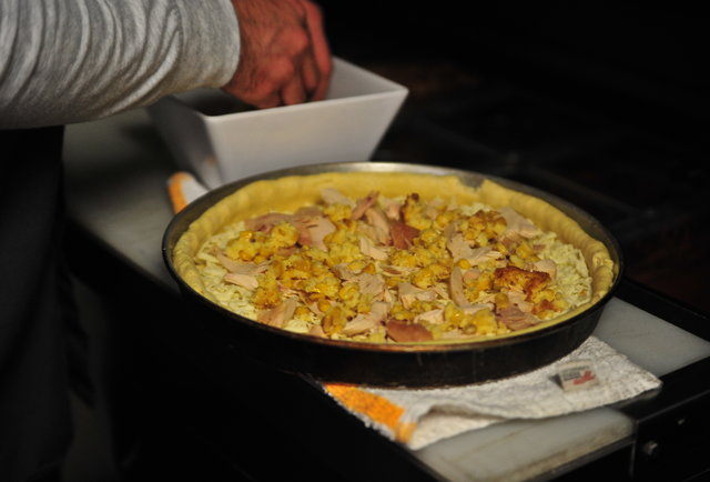 Thanksgiving and pizza collide, form the Pilgrim Pie