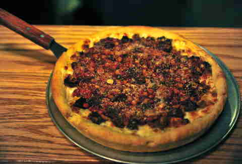 Pilgrim Pie pizza