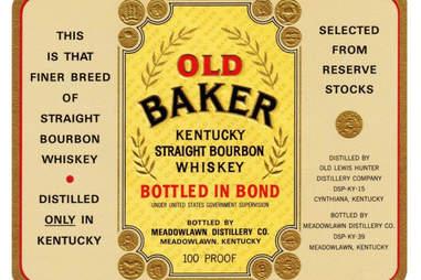 Bottled in Bond label