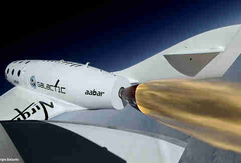 Virgin Galactic ss-22 close-up