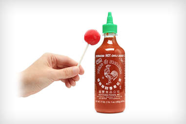 Sriracha lollipops