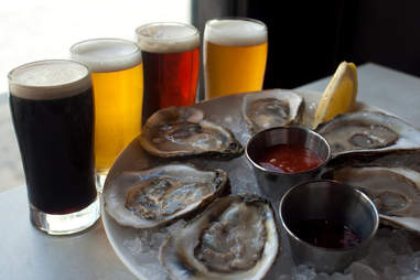 oysters beer