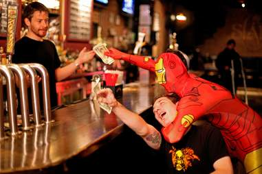 Tipping Superhero