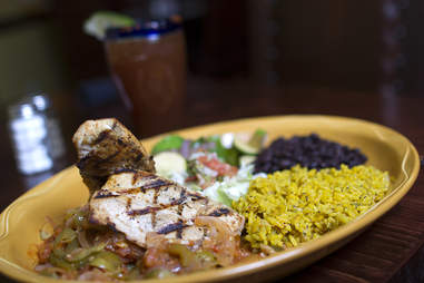 chicken and rice and beans