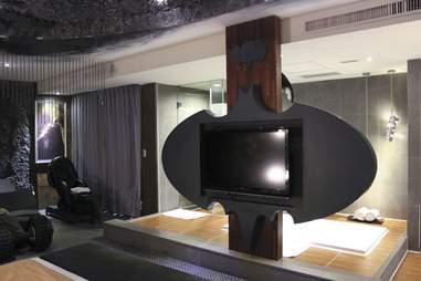 TV shaped like bat signal