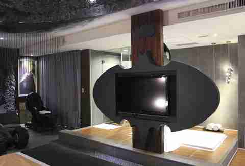 TV shaped like bat signal