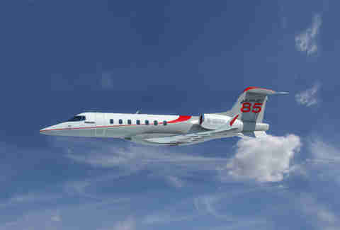 Learjet 85 in sky