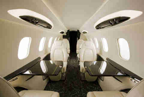 Interior, learjet 85