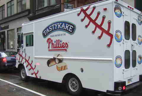 Tastykakes Phillies truck