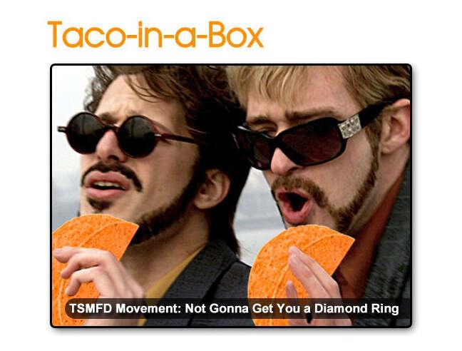 Dick in a Box Doritos Locos Taco