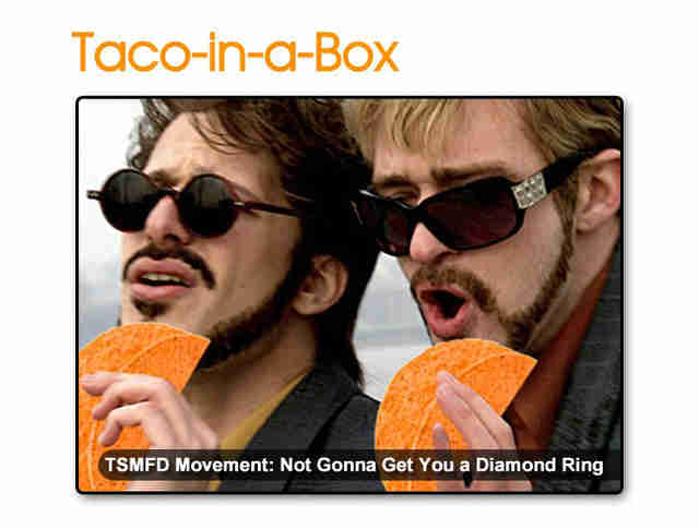 Dick in a Box Doritos Locos Taco